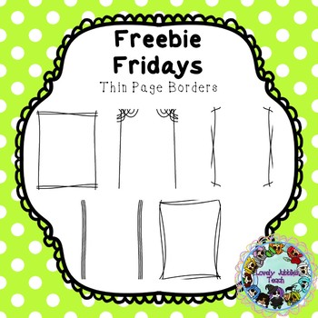 Freebie Friday 17: Thin Lines Page Borders