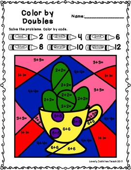 Freebie Friday 19: Color by Doubles Facts