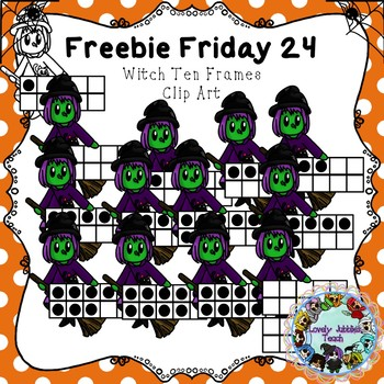 Freebie Friday 24: Witch Ten Frames Clip Art