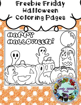 Freebie Friday 35: Halloween Coloring Pages