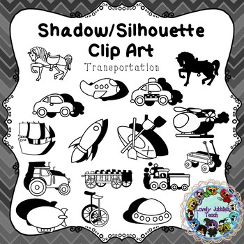 Freebie Friday 39: Shadow/Sihouette Clip Art Transportation Theme
