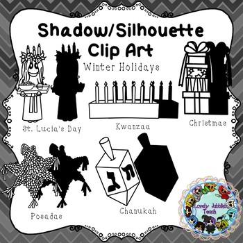 Freebie Friday 40: Shadow/Silhouette Clip Art Winter Holidays