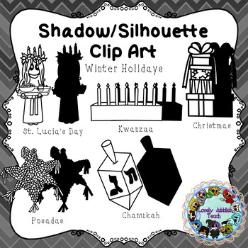 Freebie Friday 40: Shadow/Silhouette Clip Art Winter Holidays