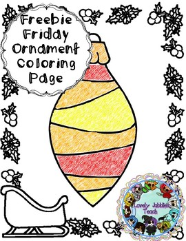 Freebie Friday 41: Ornament Coloring Page