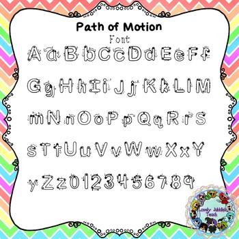 Freebie Friday 43: Path of Motion Font