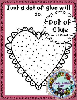 Freebie Friday 44: Glue Dot Practice Valentine's Day