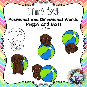 Freebie Friday 46: Positional and Directional Clip Art Mini Set- Puppy and Ball