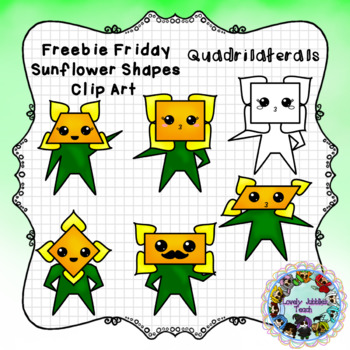 Freebie Friday 49: Sunflower Shapes- Quadrilaterals
