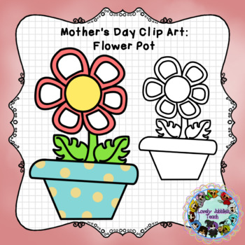 Freebie Friday 51: Mother's Day Flower Pot Clip Art