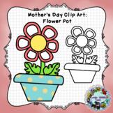 Freebie Friday 51: Mother's Day Flower Pot Clip Art