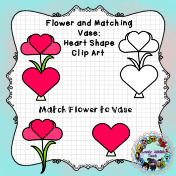 Freebie Friday 52: Flower and Vase Matching Shapes: Heart