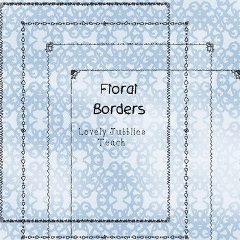 Freebie Friday 6: Thin Floral Page Borders