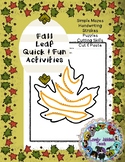 Freebie Friday 61: Fall Leaf Activities