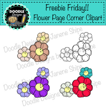 Freebie Friday!!  Flower Page Corners Clipart