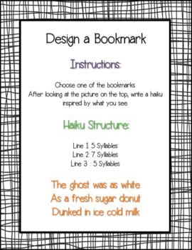 Halloween Haiku Bookmarks