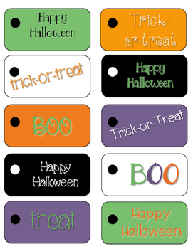 Freebie Friday: Halloween Treat Tags and Table Tent