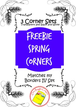 Freebie Friday Spring Corners