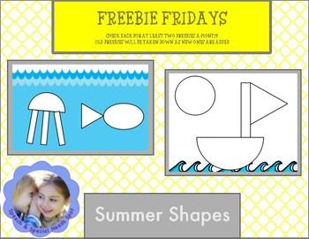 Freebie Fridays: Summer Shapes