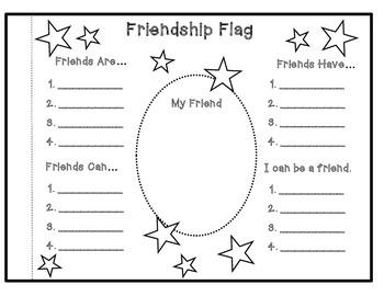 Freebie!  Friendship Flag