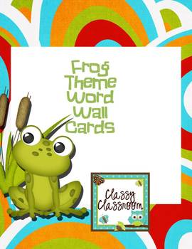 Freebie Frog Word Wall Cards