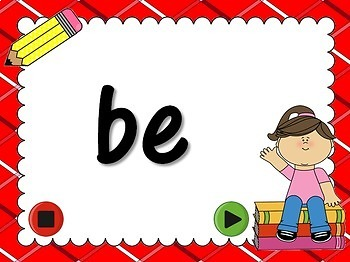 Freebie - Fry Words - 1st 25 Words - Flash Cards PPT Game