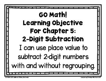 {Freebie!} GO Math! 2nd Grade CHAPTER Essential Questions/Learning Objectives