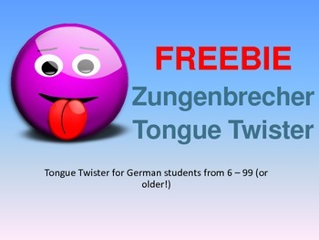 Freebie - German Tongue Twister / Zungenbrecher