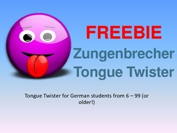Freebie - German Tongue Twister / Zungenbrecher