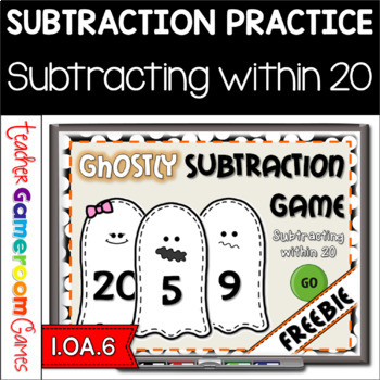 Freebie - Ghostly Subtraction Game - Subtracting within 20