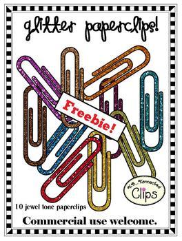 Freebie! Glitter Paperclips