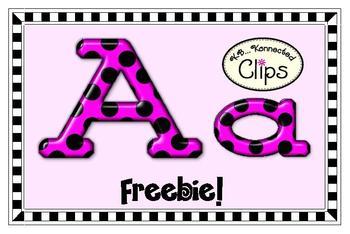 Freebie! Glossy Polka-Dot Alphabet