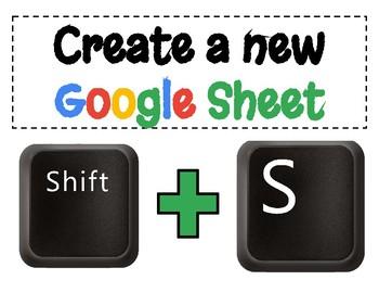 FREEBIE! Google Drive Keyboard Shortcuts - Printable Posters!