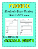 Freebie: Google Drive + PDF Standards-Based Grading Templates (Blank)