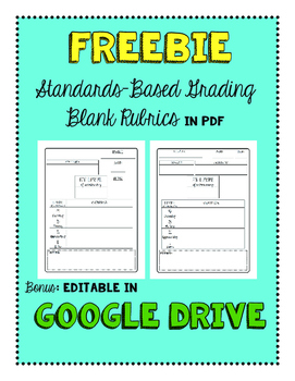 Freebie: Google Drive + PDF Standards-Based Grading Templa