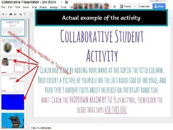 freebie google slides student collaboration back to school intro