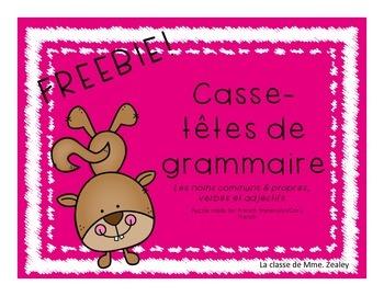 Freebie! Grammar Puzzles in French
