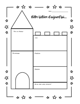 Freebie Graphic Organizer Story of the Day in French!