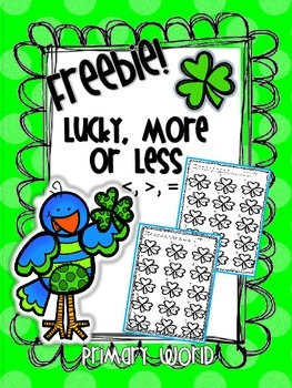 Freebie! March Greater Than, Less Than, Equal Common Core Aligned