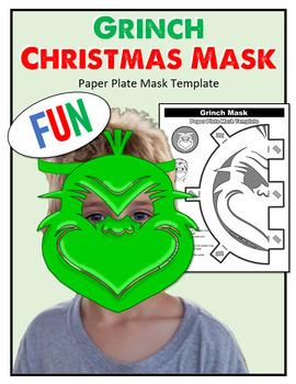 Freebie! Grinch Christmas Mask