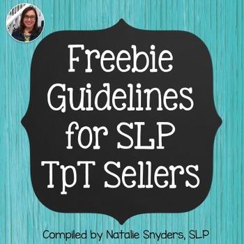 Freebie Guidelines for SLP Sellers on TpT