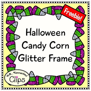 Freebie! Halloween Candy Corn Glitter Frame