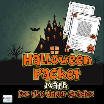 Freebie: Halloween Math Packet