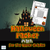 Halloween Math Worksheet