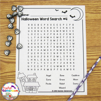 Halloween Shaped  Word Searches
