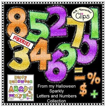 Freebie! Halloween Sparkly Numbers