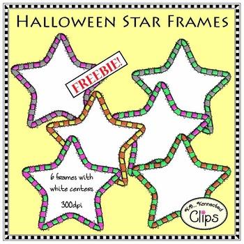 Freebie! Halloween Star Frames