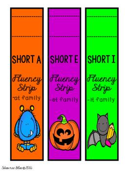 Freebie~ Halloween-Themed CVC Fluency Strips