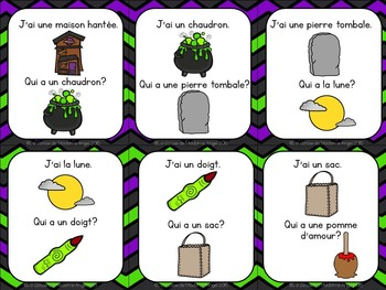 Freebie:  Halloween Themed Game in French - J'ai . . . Qui a . . .