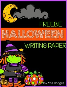 Freebie Halloween Writing Paper