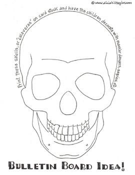 Freebie Halloween alternative bulletin board idea